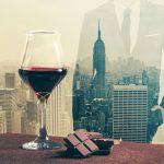 Una degustazione con skyline newyorkese