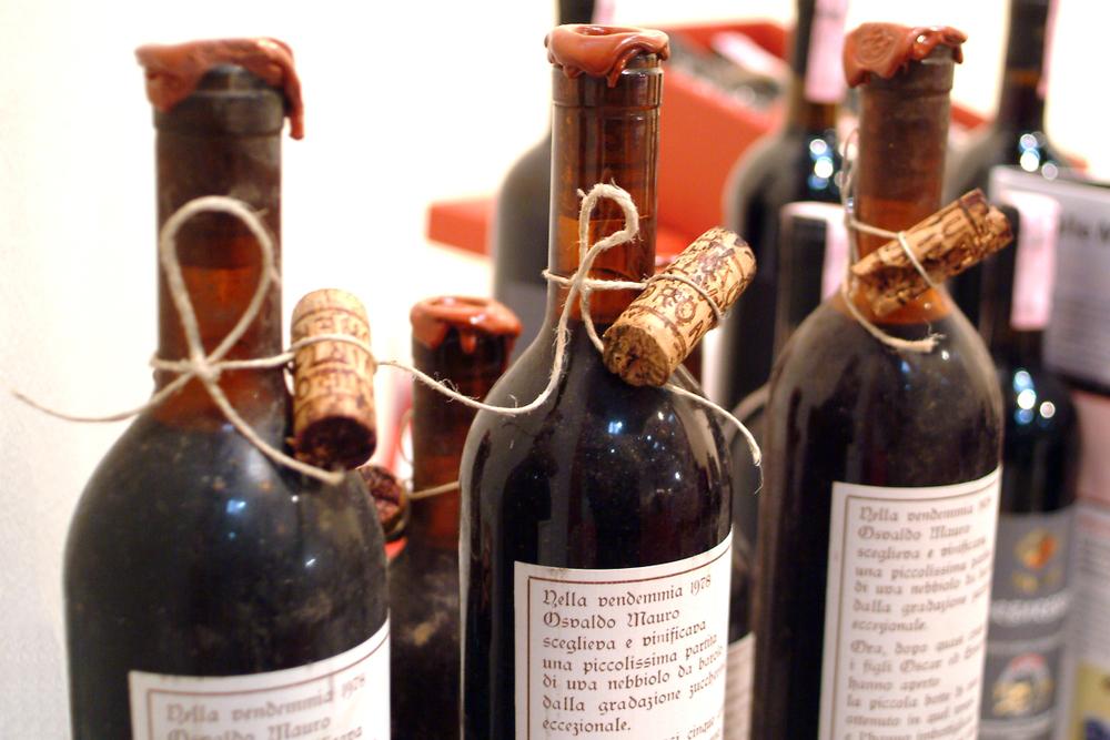 Bottiglie storiche di Nebbiolo