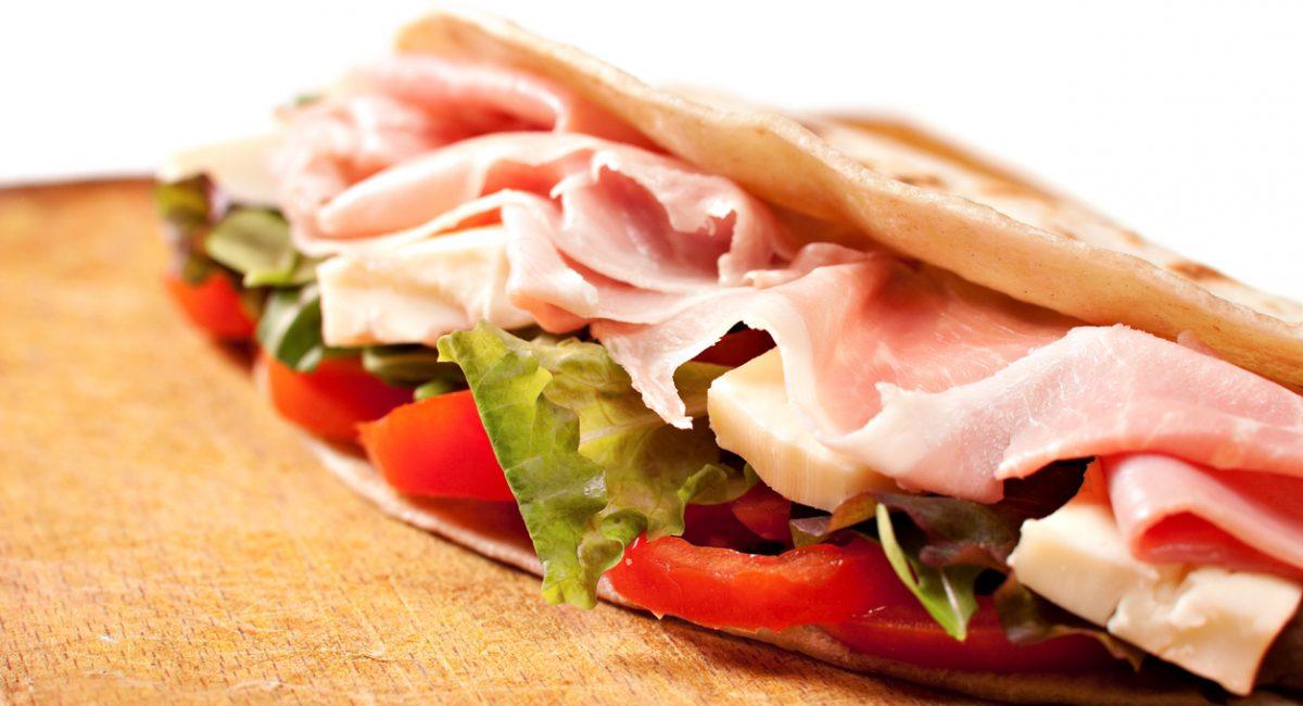 Traditional Italian piadina